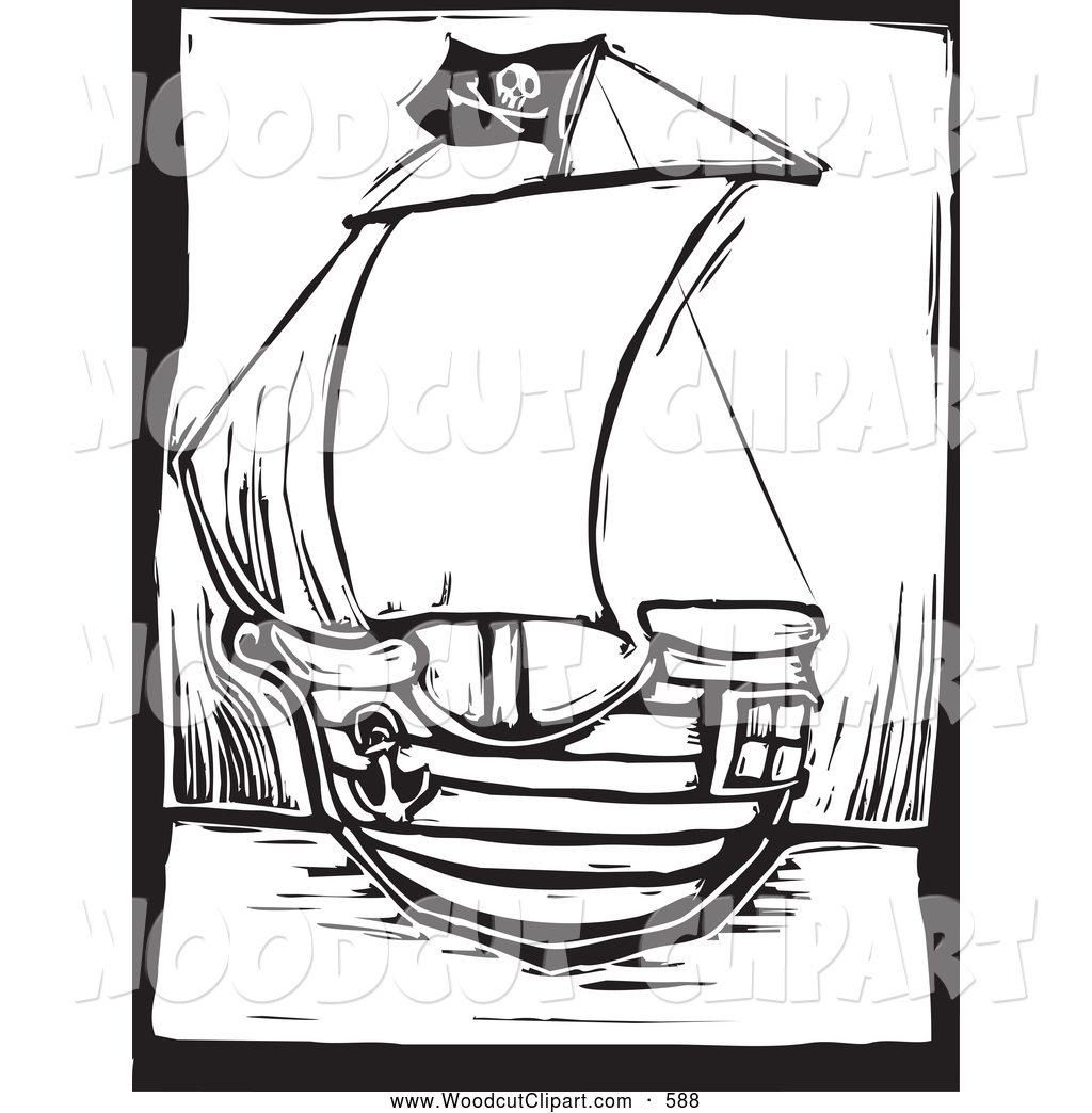 1024x1044 Pirate Ship Clipart Black And White Clipart Panda