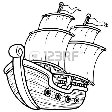 450x450 Pirate Clipart Outline
