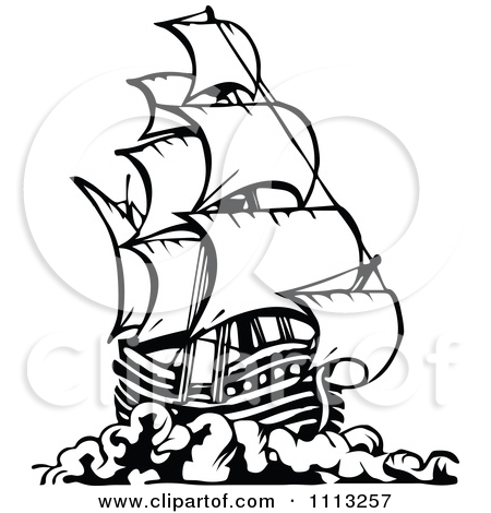 450x470 Ship Black And White Clipart
