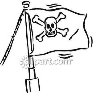 300x300 Ships Flag Flying Full Mast Royalty Free Clipart Picture