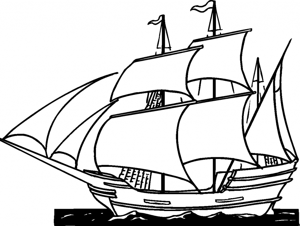1024x772 Simple Drawing Of A Ship Simple Pirate Ship Side View Drawing