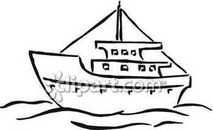 300x183 Boat Clipart Black And White Clipart Panda