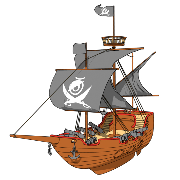 590x590 Cartoon Pirate Ship By Fullhpetrol 3docean