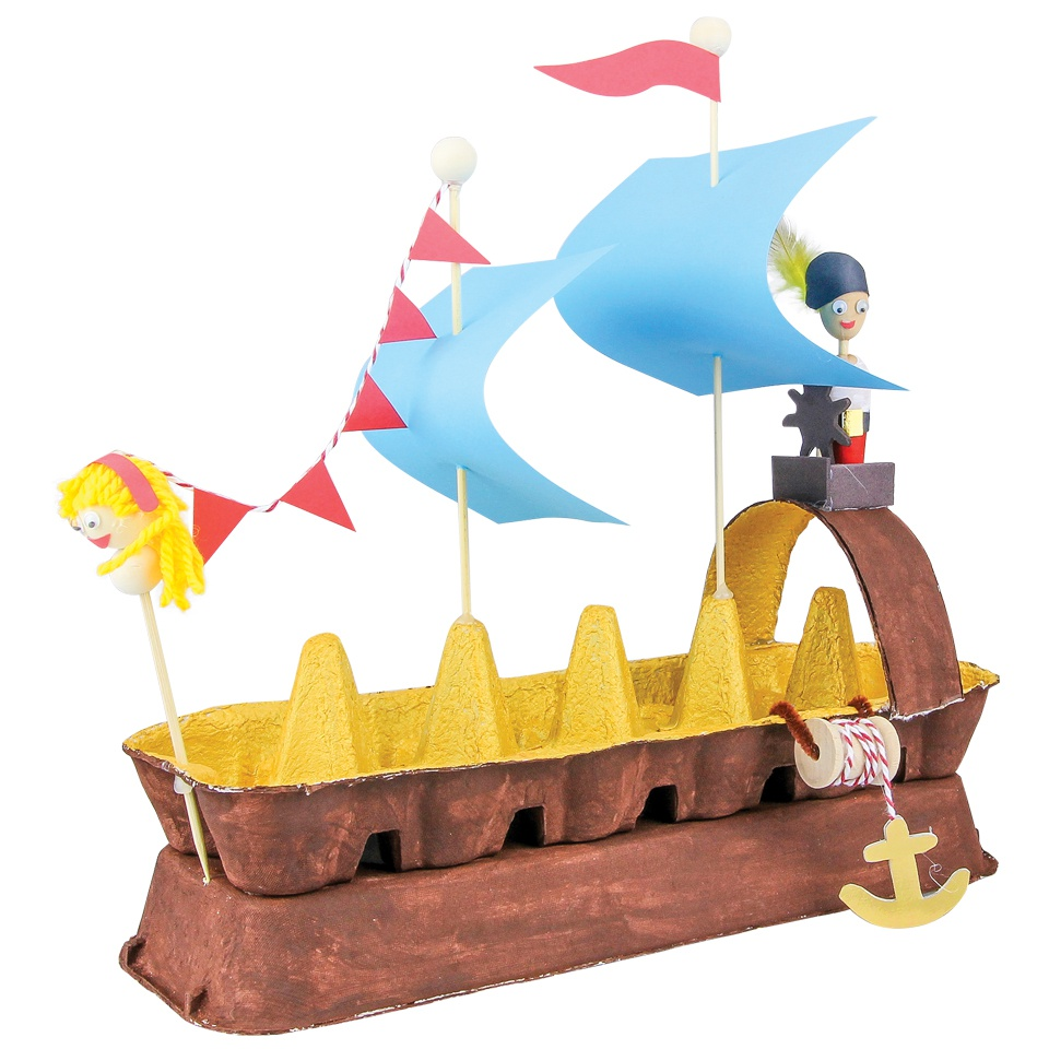 960x960 Egg Carton Pirate Ship
