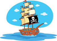 200x143 Free Pirates Clipart