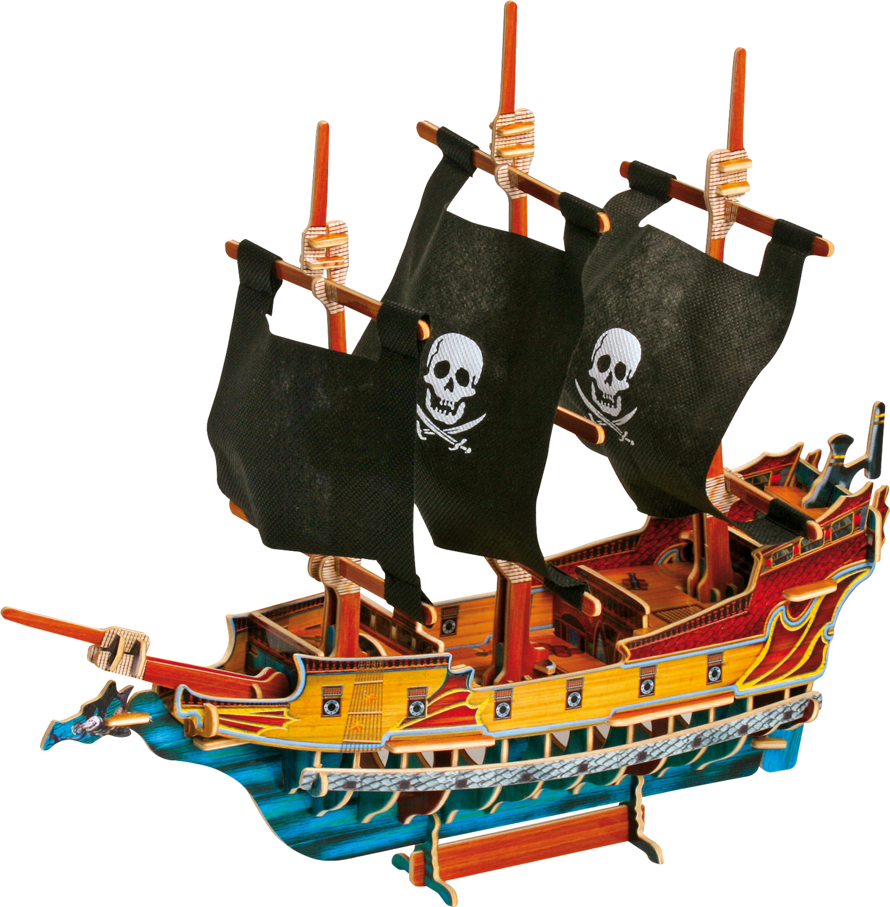 1766x1800 3d Puzzle Pirate Ship