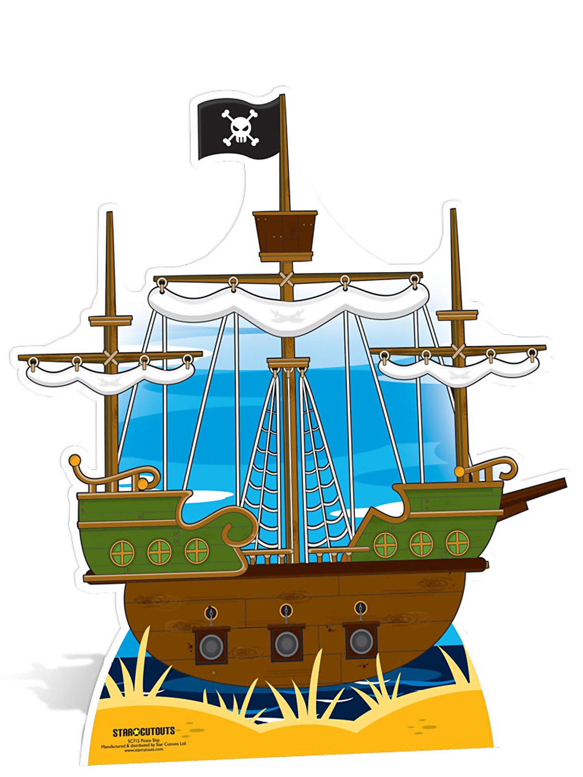 1200x1600 Pirate Ship Cardboard Cutout