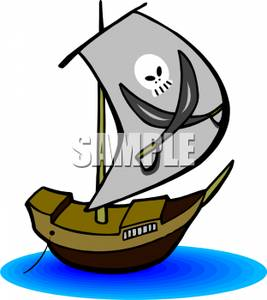 267x300 Pirate Ship Clipart Image