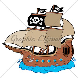 325x325 Pirate Ship Silhouette Gl Stock Images