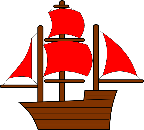 600x543 Red Pirate Ship Clip Art