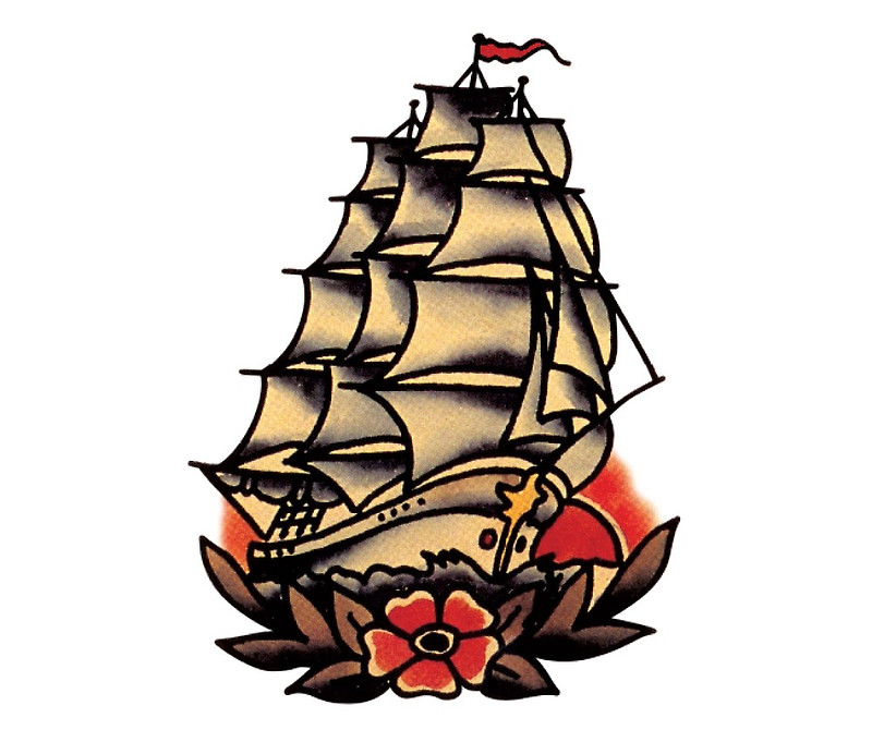 800x670 Sailor Jerry Pirate Ship Greeting Cards By Blaireusebi Redbubble
