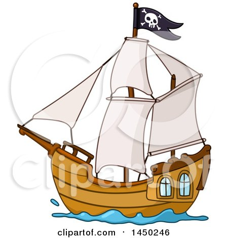 450x470 Caravel Clipart Pirate Ship