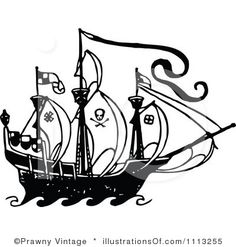236x247 Pirate Ship Border Clipart