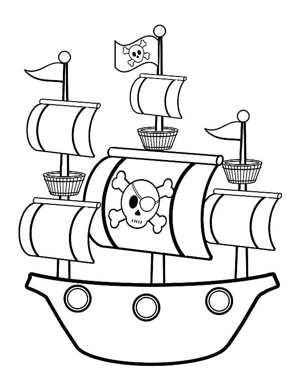 600x777 Pirate Ship Coloring Page Top Excellent Gallery Luxury