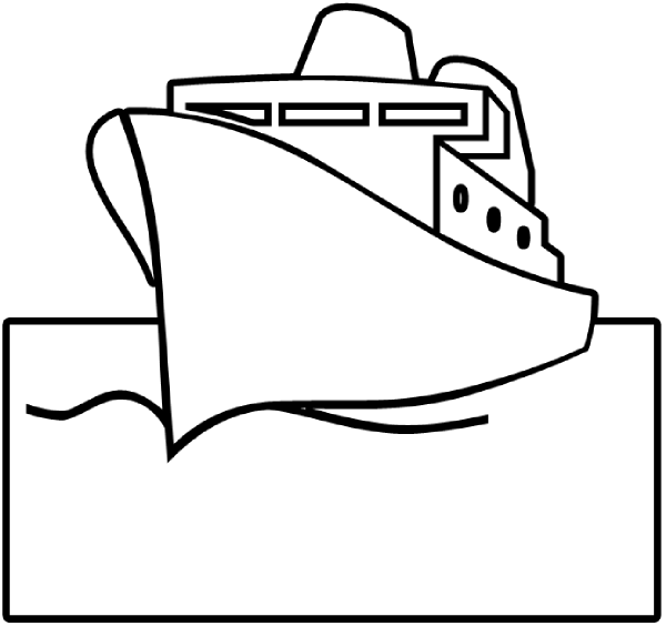 600x564 Pirate Ship Outline