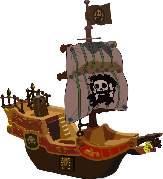 546x599 Pirate Ship Clip Art Free Vector In Open Office Drawing Svg