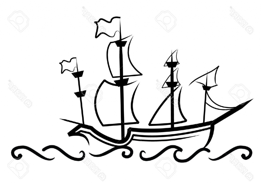 1024x721 Simple Drawing Of A Ship 1000 Ideas About Pirate Ship Drawing