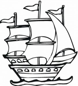 270x300 Coloring Pages Ships Coloring Pages Pirate Ship Page Ships