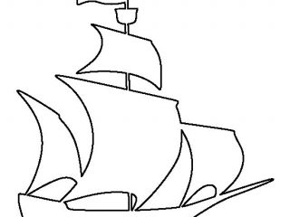 320x240 Colouring Pirate Ship Outline At Style Gallery Coloring Ideas