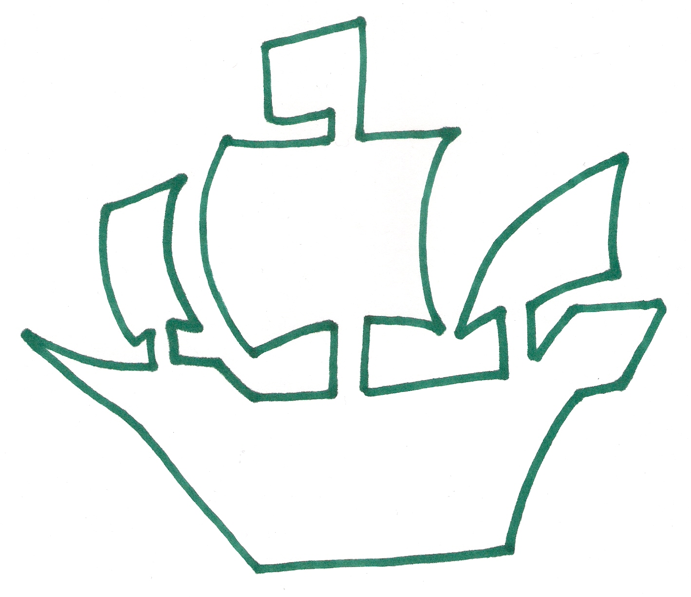 1419x1225 29 Images Of Pirate Ship Drawing Template