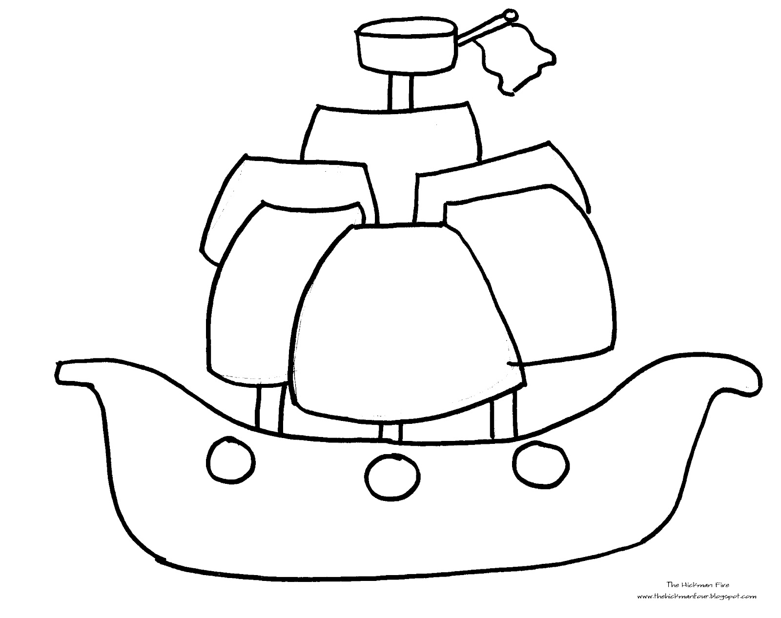 Pirate Ship Outline | Free download on ClipArtMag