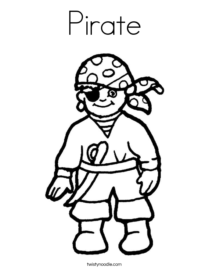 685x886 Pirate Coloring Page