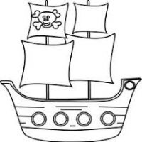 200x200 Pirate Ship Clipart