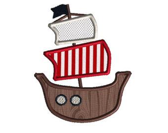 340x270 Pirate Ship Applique Etsy