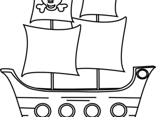 320x240 Print Pirate Ship Outline New On Minimalist Picture Coloring Page