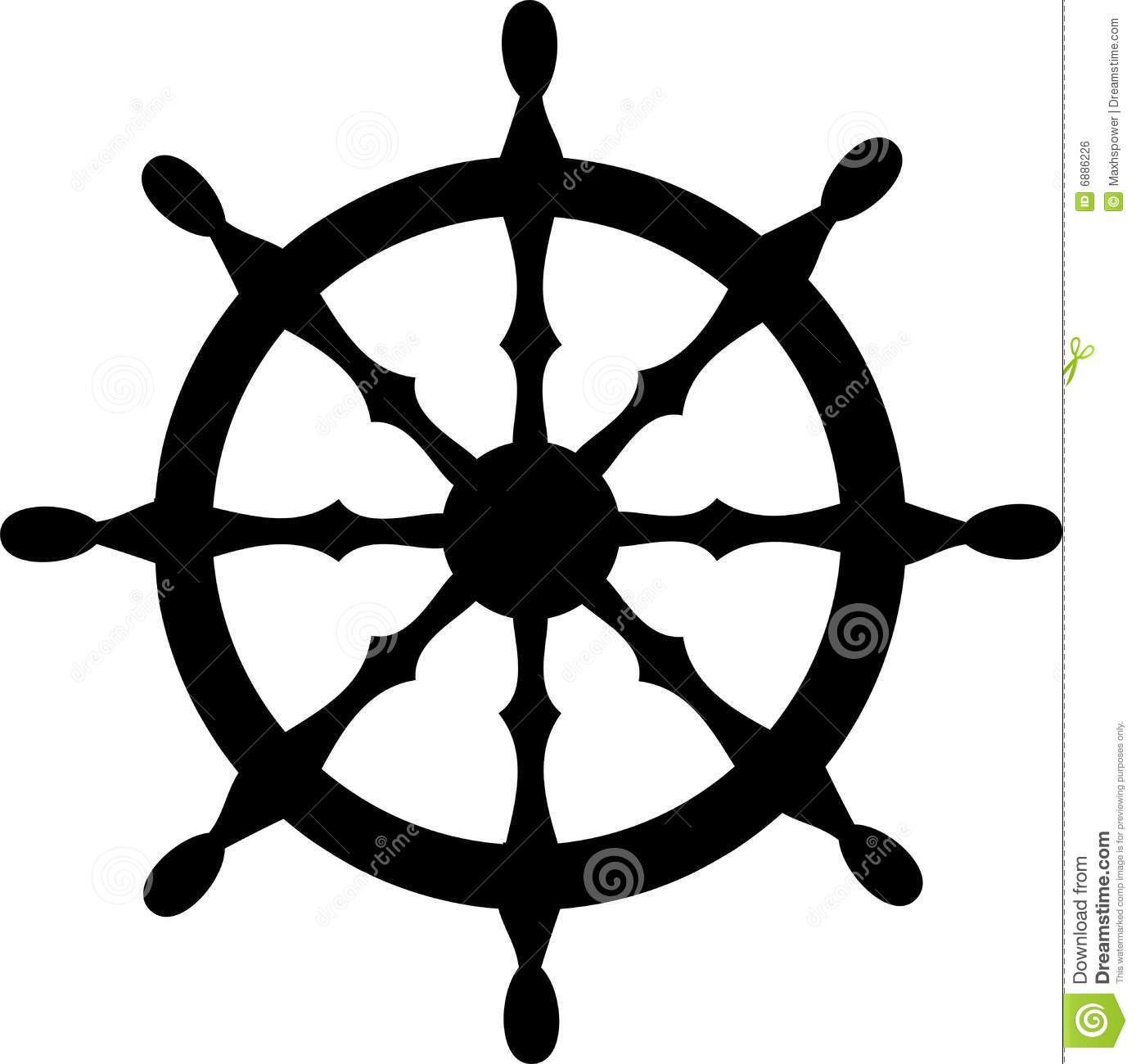 1388x1300 Pirate Ship Steering Wheel