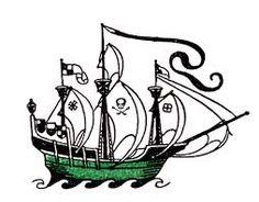236x184 Adhesive Stencil Pirate Ship