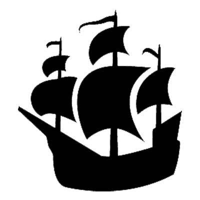 400x400 Black Clipart Pirate Ship