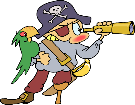 446x349 Free Clipart Pirate