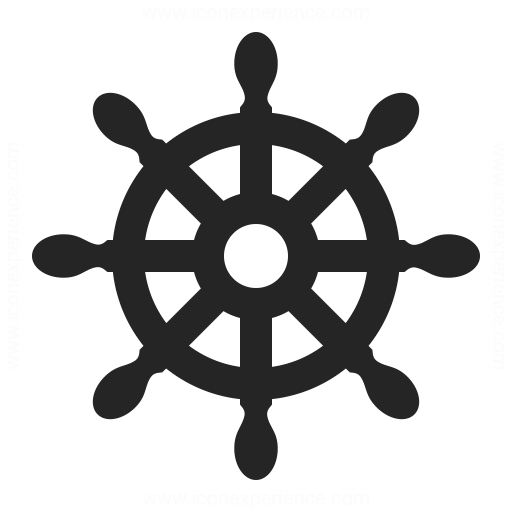 512x512 Graphics For Ship Wheel Silhouette Graphics
