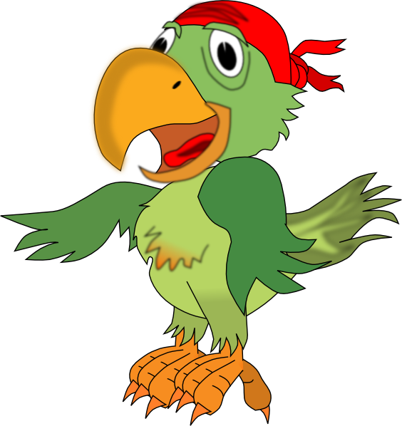 564x598 Pirate Parrot Svg Clip Arts Download