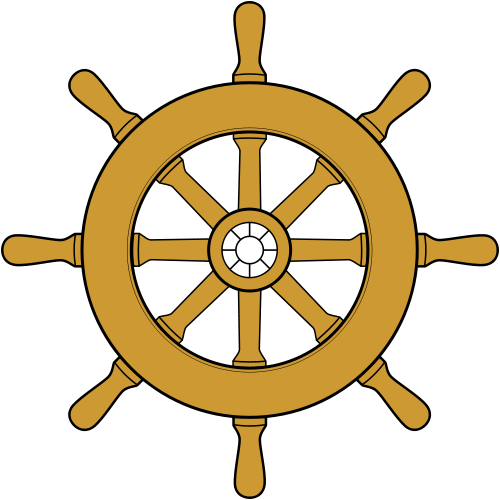 500x500 Pirate Ship Wheel Clipart