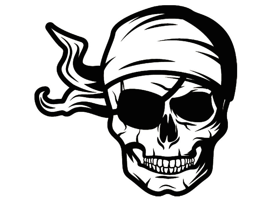 936x704 Pirate Skull Retro Guns Sailing Ship Captain Boat Fire Sea Sailor