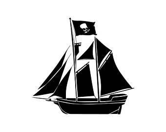 340x270 Pirate Flag Clipart Etsy