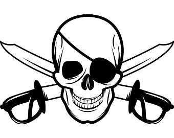 340x270 Pirate Skull Svg Etsy