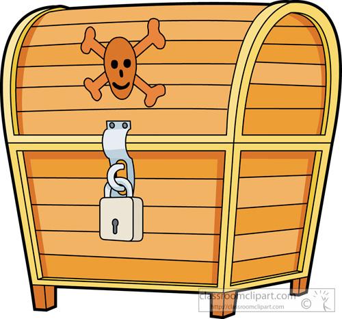 500x466 Pirates Clipart Locked Pirate Treasure Chest