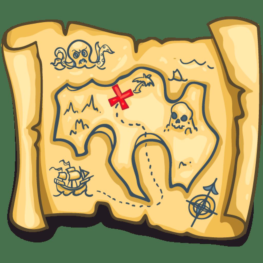 1024x1024 7 Pirate Treasure Map Clip Art Free Vectors