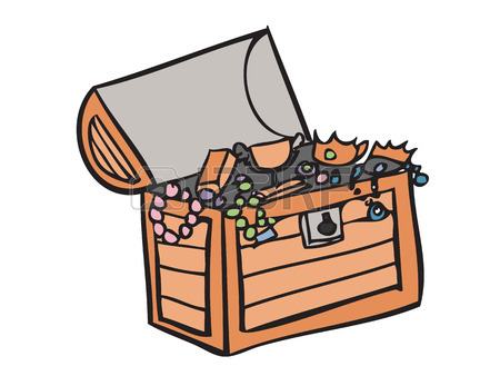 450x338 Treasure Chest Full Of A Bounty Of Coins And Jewels Royalty Free