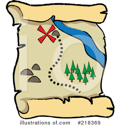 400x420 Treasure Map Clipart
