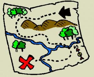 300x247 Treasure Map Clipart