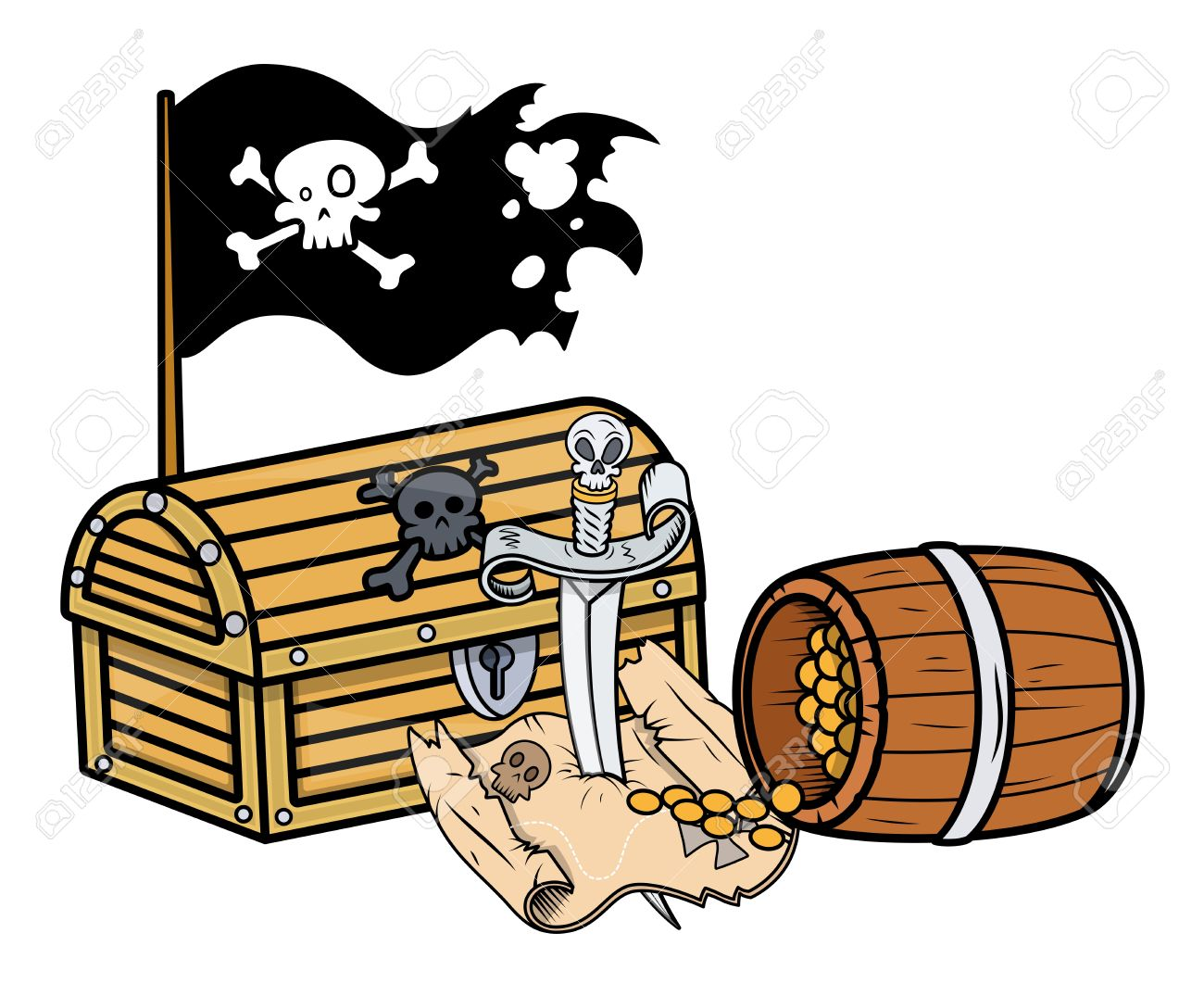 1300x1075 Caribbean Clipart Pirate Treasure