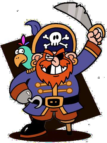 360x480 Pirate Map Clipart