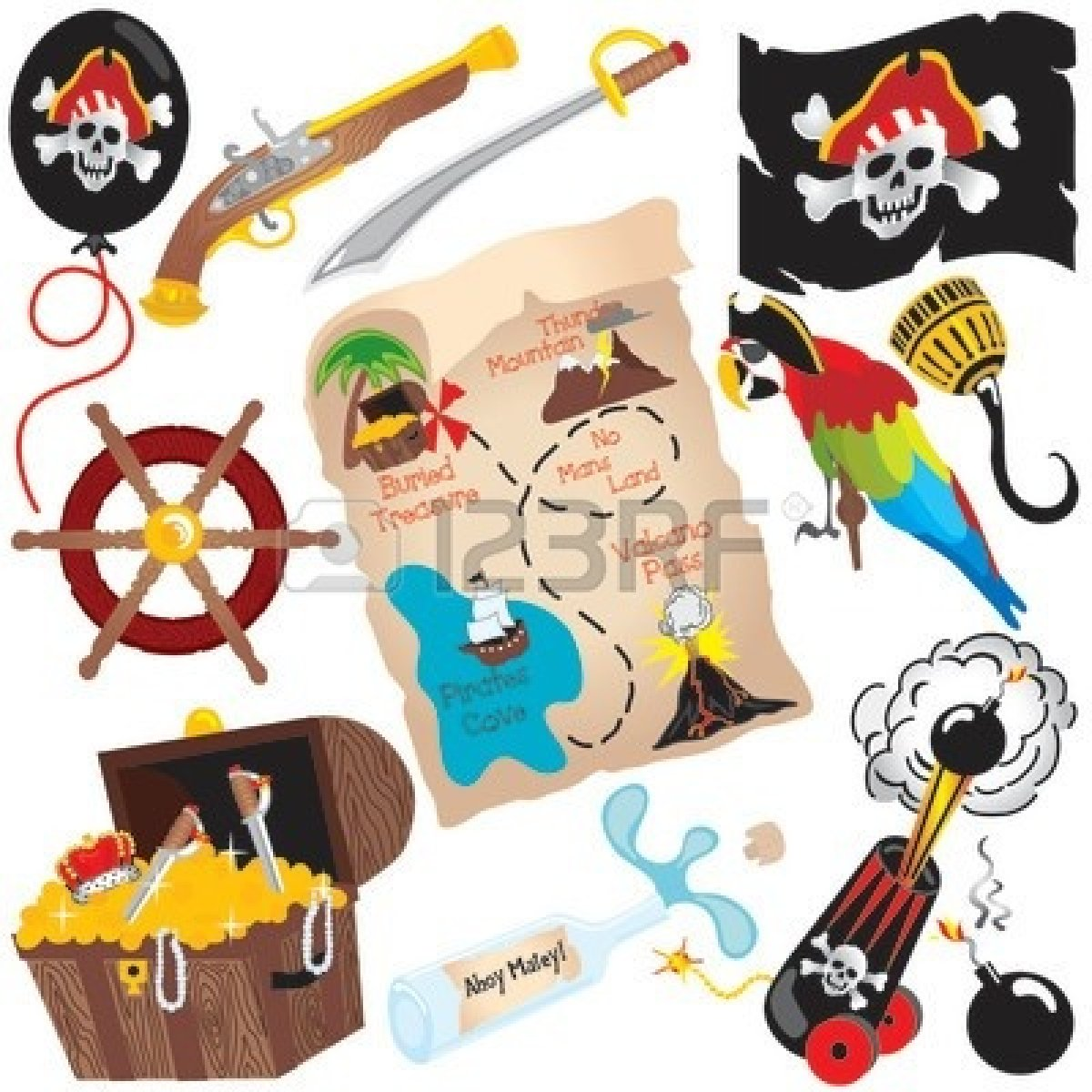 1200x1200 Pirate Treasure Map Clipart Clipart Panda