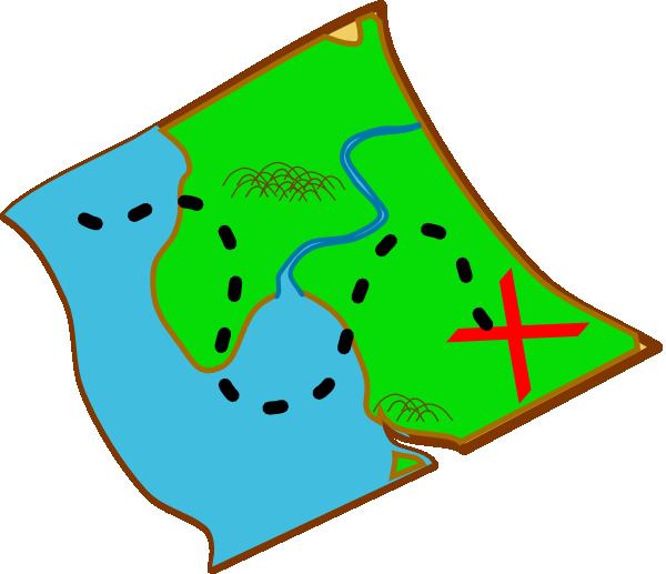 600x517 Treasure Map (Ocal) Diff Colours Clip Art