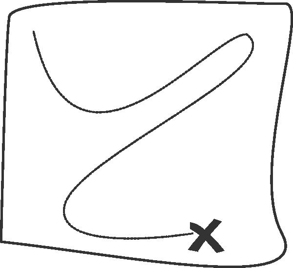600x550 Treasure Map Outline Clip Art