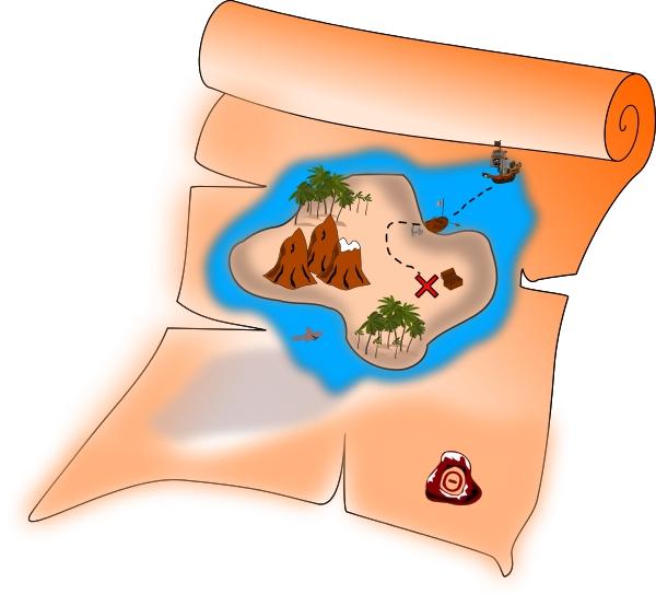 600x554 Treasure Map Clip Art